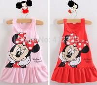 drop shipping baby kids cartoon dress blouse for summer children girls party beach beautiful dresses sleeveless
