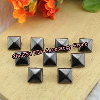 200pcs Retail 10mm Gun-black Pyramid Stud Fashion Metal Claws Rivets Spikes Nickel DIY Leathercrafts Accessory Free Shipping
