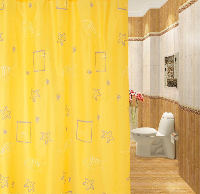 Badkamer Uit Polyester ~   online kopen wholesale geel badkamer gordijnen uit china geel badkamer
