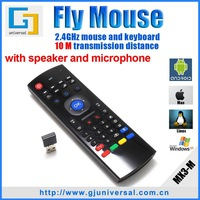 New air mouse MX3 Gyroscope 2.4G Mini wireless keyboard with IR and MIC for Android TV BOX Dongle for mini PC for TV Player