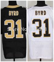 Free shipping 2014 Newest #31 Jairus Byrd Black Men's Elite Football Jersey size: 40-56 , Mix Order
