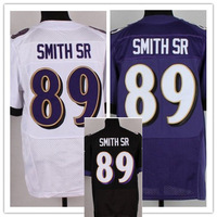 Free shipping 2014 Newest #89 Steve Smith SR Black/Purple/White Men's Elite Football Jersey size: 40-56 , Mix Order