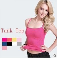 2014 New Ladies Plus Size Multicolor Long Sleeveless Bodycon Temperament Cotton Long T-shirt Tank Top Women Vest