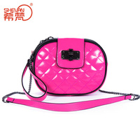 2014 candy color women's genuine leather handbag female fashion day clutch wax cowhide messenger bag
