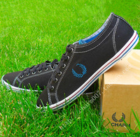 Free shipping 2014 British style charm  black low canvas shoes men casual shoes men sneakers