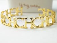 14k gold titanium Carolina bangles
