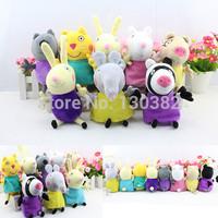 Peppa Pig Friends Toys Set Pepa Pig Plush Doll Toy Baby Toy Animals Pony Zoe Suzy Dog Cat Sheep Rabbit Elephant,19cm 8pcs/set