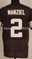 Free shipping 2014 Newest #2 Manziel Men's Elite Football Jersey size: 40-56 , Mix Order