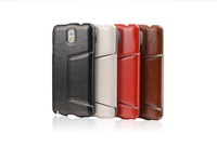 Top Quality Fine sheep slim bracket Leather Holster Case For Samsung galaxy Note 3 N9000 + Free Shipping