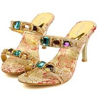 SALE ! Women Sandals 2015 Summer Shoes Brand Fashion Luxury Crystal Women High Heel Platform Sandals for Women Size 34~39 RM610