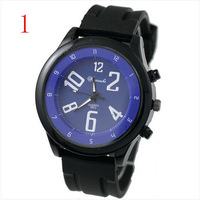 High quality-Color black Different plate watch Students fashion watches men and women lovers watch