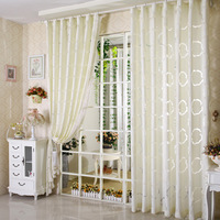 Free shipping New Arrived Curtain tulle Rustic cutout finished products pure beige screens curtain quality thickening cr025