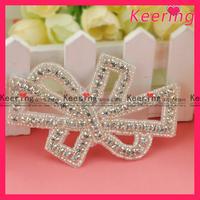 Wholesale Free Shipping 10 Yards/Lot Fashion Rhinestone Patch For Bridal Sash WRA-325