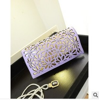 2014 summer new flower Hollow out diamond clutch women handbags shoulder bag diagonal messenger bags 7 colors