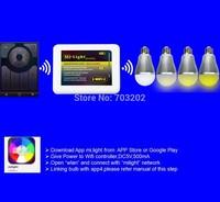 White Mi.light 2.4G led light bulb wifi led bulb CT dimmable