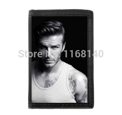 2014 New Custom David Beckham Tattoo Background Printed Fashion Canvas Wallets Best Surprise Gift(China (Mainland))