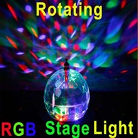 20W Mini Rotating LED RGB Stage Light Crystal Magic Ball Effect Light Disco DJ Party Stage Lighting Free Shipping