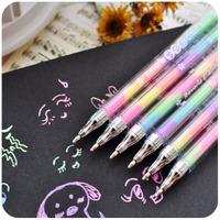 10 pcs/lot Cute Cartoon Gel Pen Watercolor Water Chalk Pen for Black Board Scrapbooking Korean Stationery Free shipping