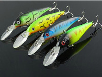 Free Shipping High Quality Lot 8pcs Plastic Minnow Fishing Lures Bass CrankBait Tackle 10g/11cm/4.33""