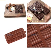 Hot sale Mini 12 cups square cake Cookie Icecream chocolate silicone mold fondant tools Bakeware 100% food grade #H0321