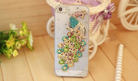 30pcs Rhinestone Case For Iphone 5 New Arrival Crystal Diamond peacock Hard Back Skin Mobile phone Case Protective Shell