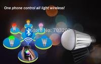IOS iphone System LED Bluetooth Bulb rgb+white 7w