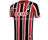 Sao Paulo away  14 new season  thai  top quality   embroidery LOGO  soccer jerseys free shipping shirts