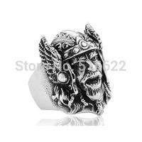 European Myth Zeus, Odin Stainless Steel Men's Index Finger Ring Sent Her gift
