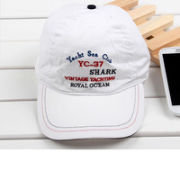 2014  Shark Vintage yachting F1 racing car cap royal yacht club cap Baseball Cap for men's and women Leisure cap hat