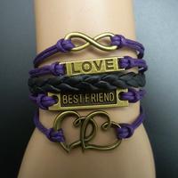 Fashion vintage 8 dcrv love bestfriend multi-layer bracelet b2-255, DIY Bracelets.