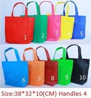 Custom shopping bags Women messenger bags,Non - woven bag fashion shopping bag Environmental protection bags 10 color 38*32*10