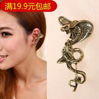 Fashion punk ear hook earrings vintage large size serpiform earring