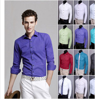 New 2014 Hotsale 13 Non Iron Regular Fit Fashion Men's Dress Shirt Formal Business Shirts Men Big Size XXL XXXL