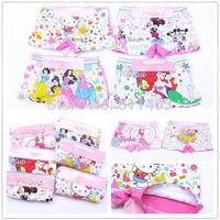 new 2014 children girls mermaid mickey mouse hello kitty boxer briefs / children panties / kids underwear
