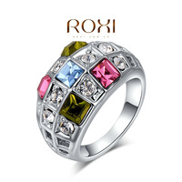 2014 Rushed Promotion Bridal Sets Classic Roxi Brands Fashion Ring, Austrian Crystals ,white Plated, Ring Jewelry,wholesale
