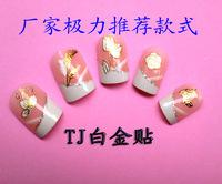 2014 New arrival 20pcs/lot nail sticker/water transfer nail sticker/3d nail stickers/gold nail sticker Tj01-TJ034