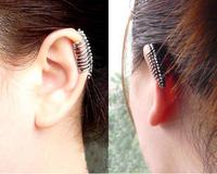 Small accessories fashion skull earrings stud earring no pierced female