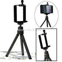 free shipping  new version 1pcs min Tripod Stand+phone Holder Bracket Holder for Camera Mobile Phone Cellphone phone holder