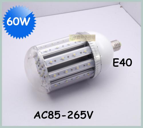 Wholesale 10pcs/lot 60W LED Street Light E40 Bulb AC85-265V 60*1W high brightness led bulb lamp(China (Mainland))