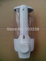 Retail 2pcs +low price Manual Single Plastic Soap Dispenser TSD21W   White Be use for hotel,Bathroom, family