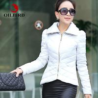 Oilbird 2013 winter puff sleeve stand collar ol small design slim down short coat female
