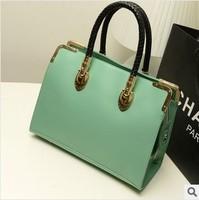 Women leather handbag new 2014 Europe Korea style vintage pretty fashion shoulder desigual brand star bag handbags leather bags