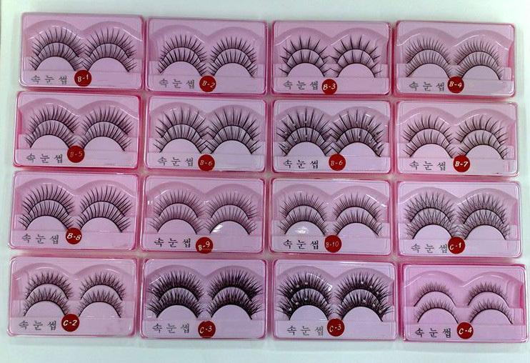 20 pairs/lot Handmade False Eyelashes Makeup Fake Eye Lashes Natural Long Thick Crisscross Winged Different Style(China (Mainland))