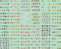 2014 New arrival 20pcs/lot  Mickey nail sticker/water transfer nail sticker/3d nail stickers/gold nail sticker M01-M24