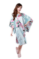 Free Shipping 2014 New Arrival Fashion Sexy Women Pyjamas Nightgown Printed Peacock For Ladies  Sleepwear BC44