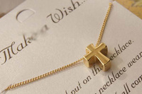 P2120Min. order$10(mix order) Free shipping fashion chain pendent necklace angel wing  peace signed skull shape  necklace