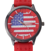 2014 hot new fashion ladies casual sports watch brand quartz watches A10D flag, military watches