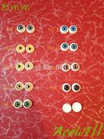 (9pairs) Half Round Acrylic Doll Eyeballs 8mm 1/8 Bjd/sd Eyes 18pcs Mixed Colors