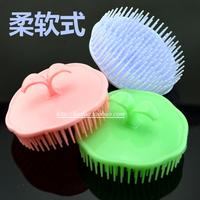 Clear Stock Advanced floptical Shampoo Brush comb Hair  Brush Bath Head Massager Free Shipping