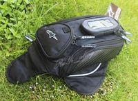 Black Oil Fuel Tank Bag Magnetic Motorcycle Motorbike Oil Fuel Tank Bag